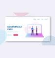 distant online medicine consultation website vector image vector image
