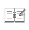 Flat line notebook icon vector image
