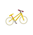 flat mountain bike touristic bicycle side view vector image