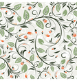 flower seamless pattern with ladybug element for d vector image