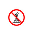 forbidden kissing icon on white background can be vector image