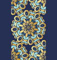 golden floral patterns vector image