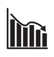 graph chart icon on white background flat style vector image vector image