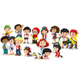 Group of international children vector image vector image