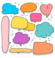 hand drawn bubbles set doodle style comic balloon vector image