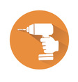 hand with drill vector image