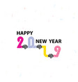 handshake sign and happy new year 2019 vector image