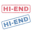 hi-end textile stamps vector image vector image