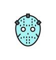hockey goalkeeper mask protection uniform flat vector image vector image
