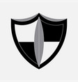 icon shield protection safety vector image