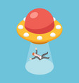isometric businessman abducted ufo vector image vector image
