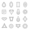 Jewels Line Icons Set vector image vector image