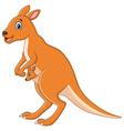 Kangaroo cartoon vector image vector image