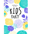kids party colorful template with date for vector image