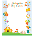 Kindergarten Preschool Kids Objects Frame vector image vector image