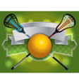 Lacrosse Label Banner vector image vector image