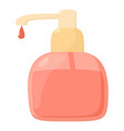 liquid soap icon cartoon style vector image vector image