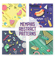 memphis seamless pattern set abstract trendy vector image vector image