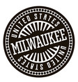 milwaukee black and white badge vector image