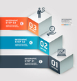 Modern infographics business step options vector image vector image