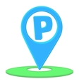 Parking pointer icon cartoon style vector image vector image