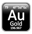Periodic table element gold icon vector image vector image