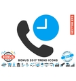 Phone Time Flat Icon With 2017 Bonus Trend vector image vector image