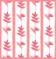 pinktropic flowers seamless pattern vector image