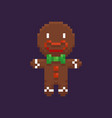 pixel gingerbread man vector image
