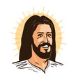 portrait of happy jesus christ messiah god vector image vector image