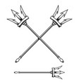 poseidon trident isolated on white background vector image vector image
