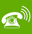retro phone icon green vector image vector image