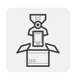 robot hand icon vector image