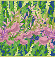 seamless pattern with marine plants leaves vector image vector image