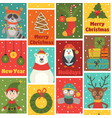Seamless pattern with winter holiday characters