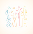 Set of woman shopping silhouettes vector image