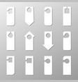 sign hanger of various shapes on a light vector image vector image