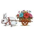 sketch of easter bunny delivering vector image vector image