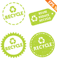 Stamp sticker recycled tag collection - - E vector image vector image
