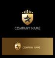 star shield gold company logo vector image vector image