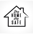 stay home line design vector image