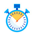 stopwatch color icon vector image