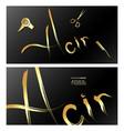 stylist beauty and hair salon business card gold