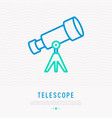 telescope thin line icon vector image