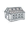 The house stands by itself on the street vector image vector image