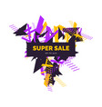 trendy sale background composition of geometric vector image vector image
