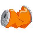 Used can in orange color vector image vector image