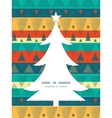 vibrant ikat stripes Christmas tree silhouette vector image