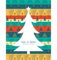 vibrant ikat stripes Christmas tree silhouette vector image vector image