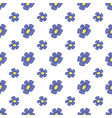 vintage seamless floral pattern cute simple style vector image vector image